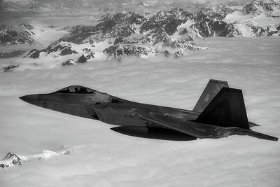Photograph - F-22 Raptor Over Alaska by Edward Eagerton