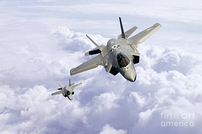 Stealth Digital Art - F35 Lightning II by J Biggadike