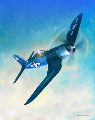 Painting - F4u Corsair by Douglas Castleman