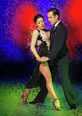 Flamenco Mixed Media - Facundo Pinero And Vanesa Villalba  by Elzbieta Petryka