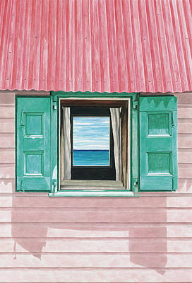 Creole Cottage Wall Art - Painting - Faded Creole by John Canning