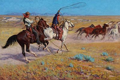 Richard Lorenz Painting - Fading Horses by Richard Lorenz