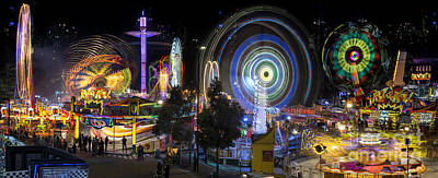 Photograph - Fairground Attraction Panorama by Ray Warren