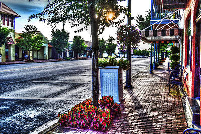 Photograph - Fairhope City Street by Michael Thomas