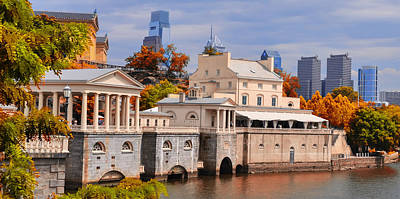 Waterworks Digital Art - Fairmount Waterworks In Philadelphia by Bill Cannon