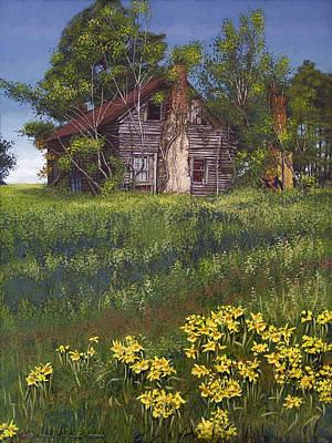 Fairplay Farmhouse Art Print by Peter Muzyka