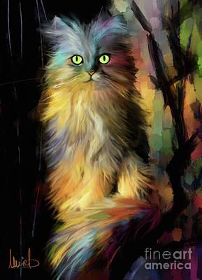 Persian Cat Wall Art - Painting - Fairy Cat by Melanie D