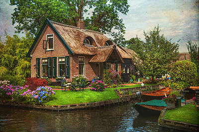 Fairytale House. Giethoorn. Venice Of The North Art Print by Jenny Rainbow