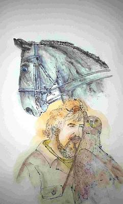 Painting - Falconry Horses And Jousting Album  by Debbi Saccomanno Chan