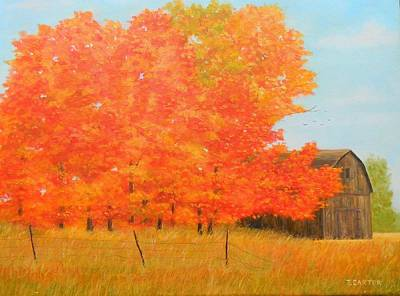 Carter.oil Painting - Fall Colors Carter by John Carter
