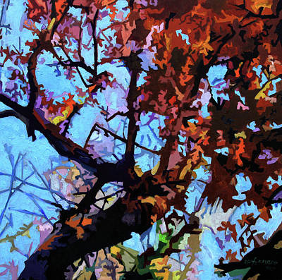 Painting - Fall Composition by John Lautermilch