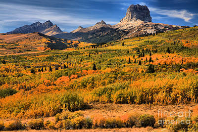 Photograph - Fall Foliage At Chief Mountain by Adam Jewell