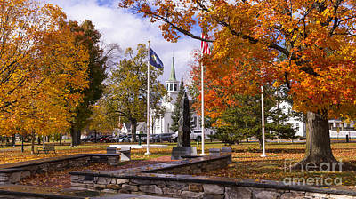 Photograph - Fall Foliage From The Town Green In Bristol Vermont. by New England Photography