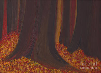 Painting - Fall Forest Floor By Jrr by First Star Art