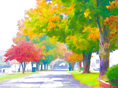 Digital Art - Fall In Holly Hill by Ches Black