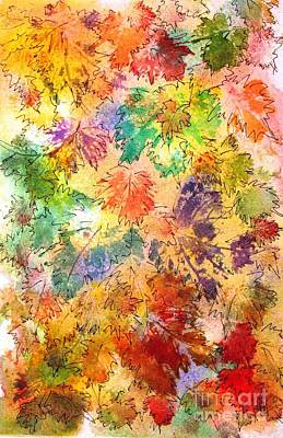 Painting - Fall Leaves 1 by Hazel Holland