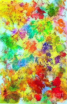Painting - Fall Leaves 4 by Hazel Holland