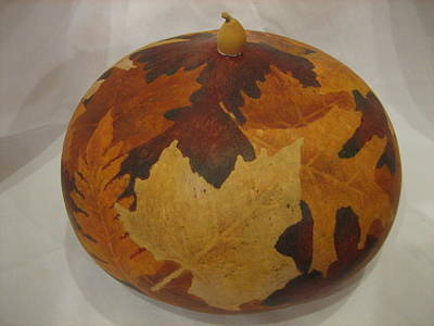 Mixed Media - Fall Leaves by Barbara Prestridge