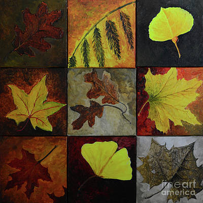 Painting - Fall Leaves by Charles Owens