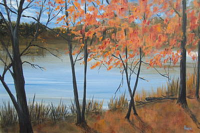Fall N Lake Art Print by Pete Maier