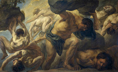 Painting - Fall Of The Giants by Jacob Jordaens