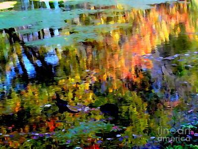 Digital Art - Fall Reflections #1 by Ed Weidman
