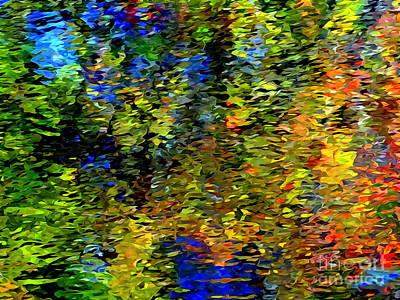 Digital Art - Fall Reflections #2 by Ed Weidman