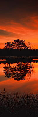Rhinelander Photograph - Fall Sunrise Over Boom Lake by Dale Kauzlaric