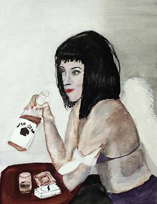 Fallen Angel Art Print by Cathy Jourdan