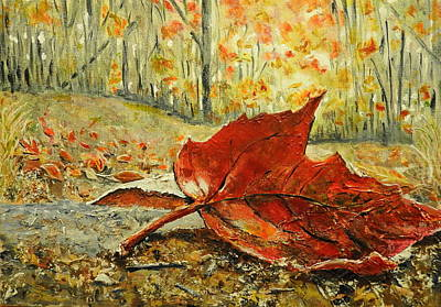 Painting - Fallen Leaf  by Betty-Anne McDonald
