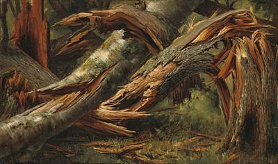 Fallen Tree Painting - Fallen Tree by Alexandre Calame