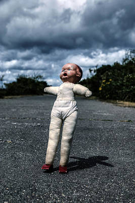 Defects Photograph - Falling Doll by Joana Kruse
