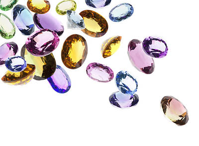 Illuminated Photograph - Falling Gems by Setsiri Silapasuwanchai