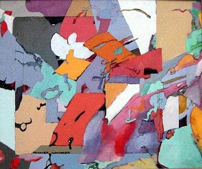 Art Print featuring the painting Falling Water by Bernard Goodman