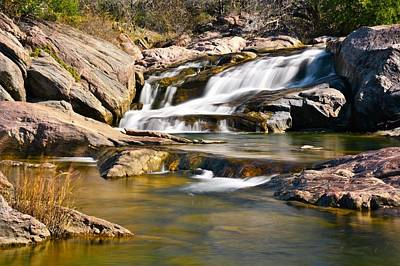 Waterfalls Photograph - Falls At Inks Lake by Dennis Nelson