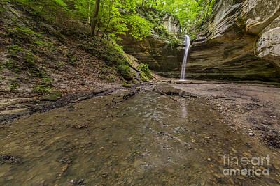 Starved Rock Wall Art - Photograph - Falls At Ottawa Canyon by Twenty Two North Photography