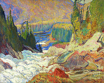 Montreal Painting - Falls - Montreal River by J E H MacDonald