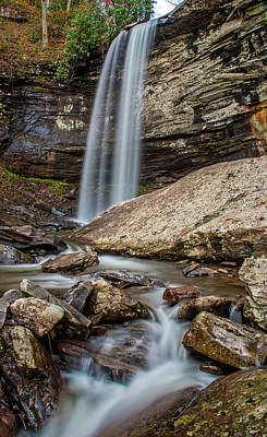 Streams Photograph - Falls Of Hills Creek Lower Fall by Andy Crawford