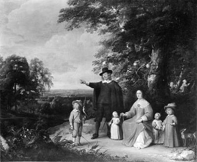 Family Group In A Landscape Original by Jacques d'Arthois