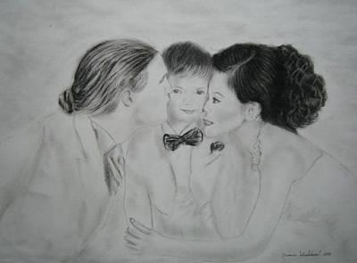 Drawing - Family by Wanvisa Klawklean