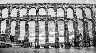 Photograph - Famous Ancient Aqueduct In Segovia, Castilla Y Leon, Spain by JR Photography