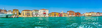 Photograph - Famous Canal Grande With Colorful Houses In Venice, Italy by JR Photography