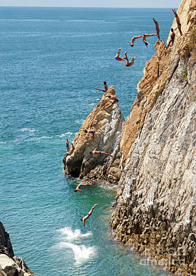 Old Masters Royalty Free Images - Famous cliff diver of Acapulco Mexico Royalty-Free Image by Anthony Totah