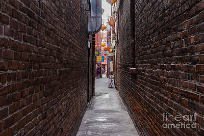 Photograph - Fan Tan Alley  by Carrie Cole