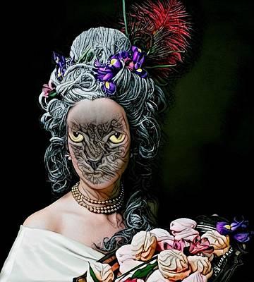 Rose - Fantasy Cat Art 24 by Artful Oasis