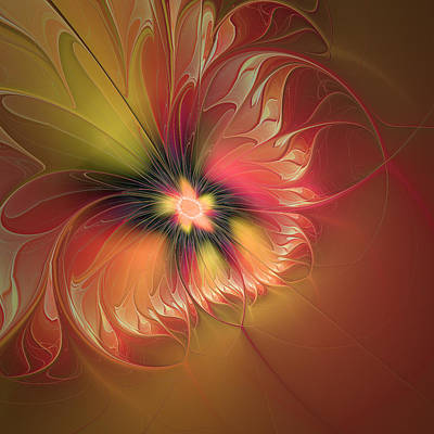 Digital Art - Fantasy Flower Fractal by Gabiw Art