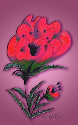 Digital Art - Fantasy Flower by Iris Gelbart