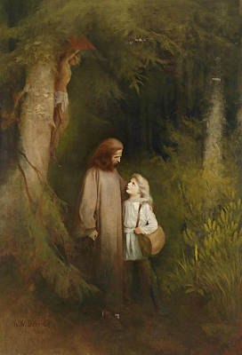 Painting - Farewell by Karl Wilhelm Diefenbach