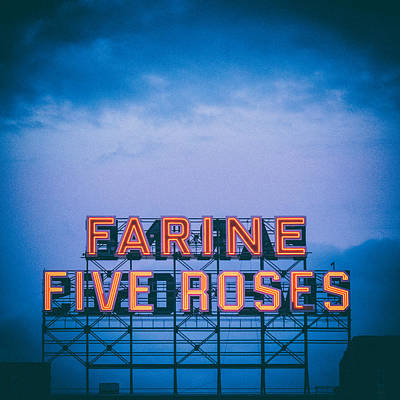 Blue And Red Photograph - Farine Five Roses by Tanya Harrison