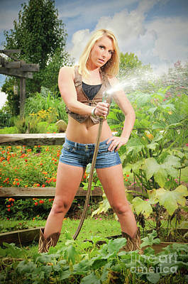 Farm Girl Art Print by Jt PhotoDesign